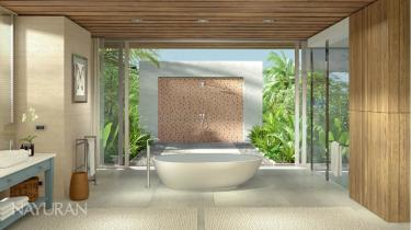 Bath with outdoor shower