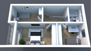 3D Grundriss Obergeschoss